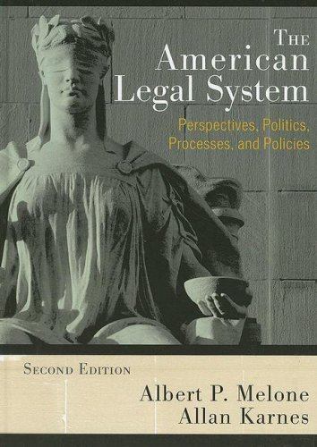 American Legal System Perspectives, Politics, Processes, and Policies 2nd 2008 (Revised) edition cover