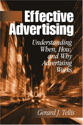 Effective Advertising Understanding When, How, and Why Advertising Works  2004 edition cover