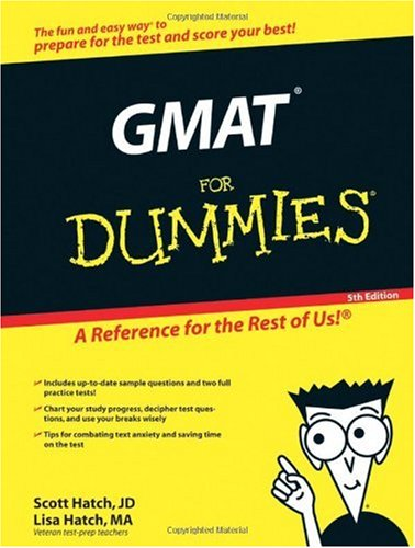 GMAT for Dummies  5th 2006 (Revised) edition cover