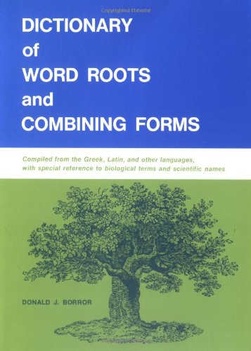 Dictionary of Word Roots   1960 9780874840537 Front Cover