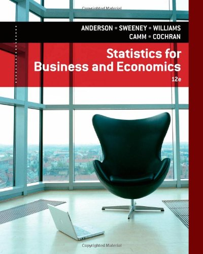Statistics for Business and Economics  12th 2014 9781133274537 Front Cover