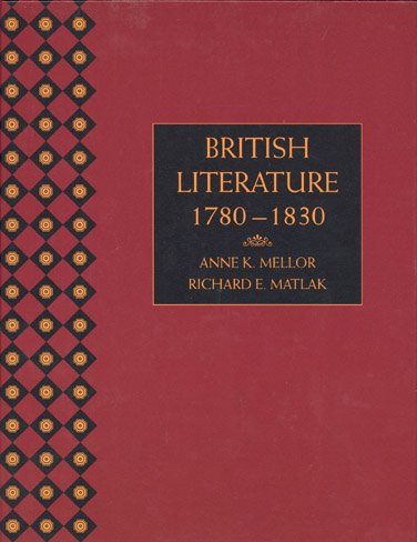 British Literature 1780 to 1830, Paperback Version   1996 9781413022537 Front Cover