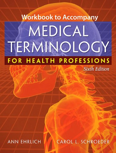 Medical Terminology for Health Professions  6th 2009 (Workbook) edition cover