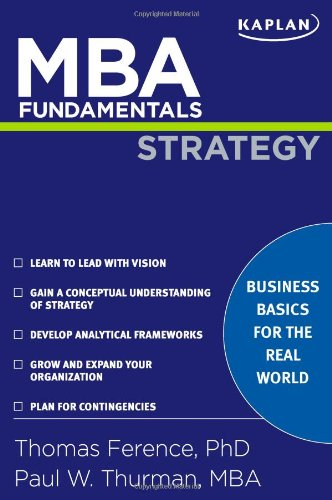 MBA Fundamentals Strategy   2009 edition cover