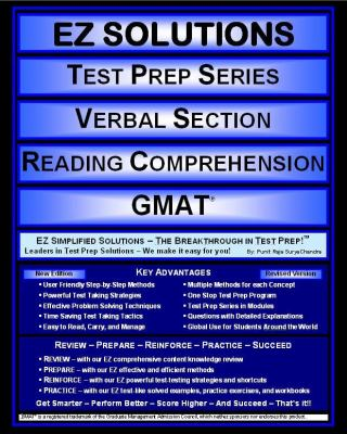 EZ Solutions: Test Prep Series: Verbal Section: Reading Comprehension : Gmat  2011 edition cover