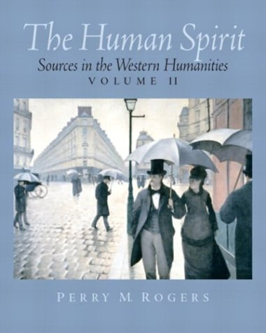 Human Spirit Sources in the Western Humanities  2004 edition cover