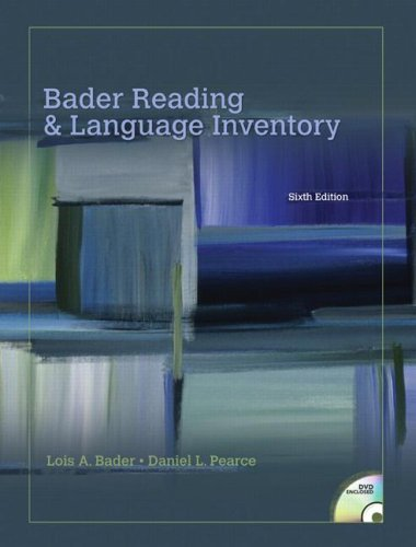 Reading and Language Inventory  6th 2009 edition cover