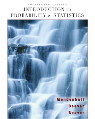 Introduction to Probability and Statistics  13th 2009 9780495389538 Front Cover