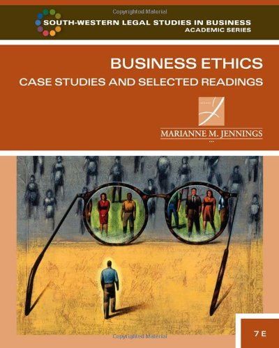 Business Ethics Case Studies and Selected Readings 7th 2012 edition cover