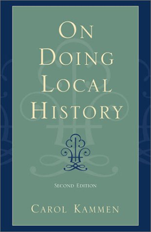 On Doing Local History  2nd 2003 (Revised) edition cover