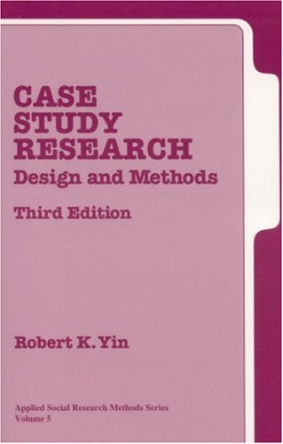 Case Study Research Design and Methods 3rd 2002 (Revised) 9780761925538 Front Cover
