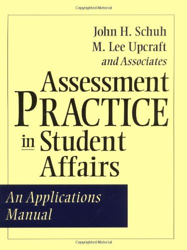 Assessment Practice in Student Affairs An Applications Manual  2001 edition cover