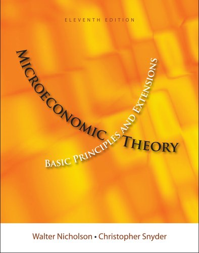Microeconomic Theory Basic Principles and Extensions 11th 2012 edition cover