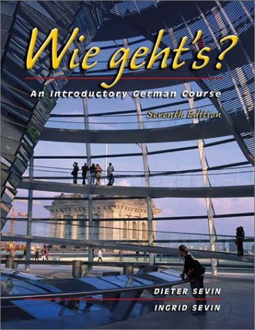 Wie Geht's? An Introductory German Course 7th 2003 9780030352539 Front Cover