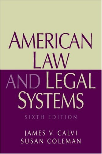 American Law and Legal Systems  6th 2008 edition cover