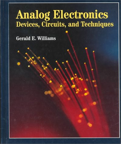Analog Electronics Devices, Circuits and Techniques  1996 9780314045539 Front Cover