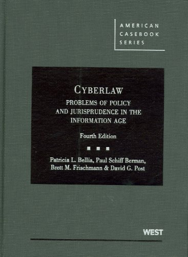 Cyberlaw Problems of Policy and Jurisprudence in the Information Age, 4th 4th 2011 (Revised) edition cover