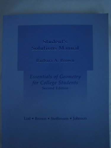 Essentials of Geometry for College Students  2nd 2004 edition cover