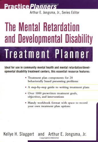 Mental Retardation and Developmental Disability Treatment Planner   2000 edition cover