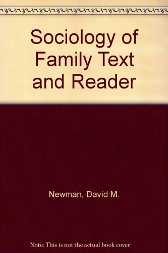 SOCIOLOGY OF FAMILIES:READINGS N/A 9780761986539 Front Cover