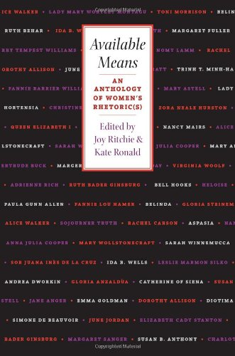 Available Means An Anthology of Women's Rhetoric(s)  2001 edition cover