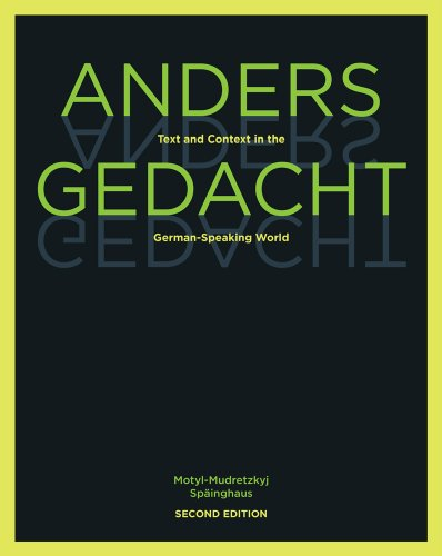 Anders Gedacht Text and Context in the German-Speaking World 2nd 2011 edition cover
