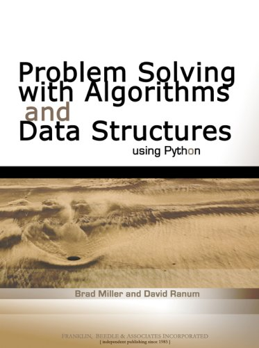 Problem Solving with Algorithms and Data Structures Using Python   2005 edition cover