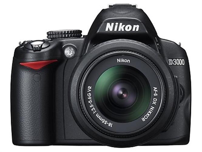 Nikon D3000 10.2MP Digital SLR Camera with 18-55mm f/3.5-5.6G AF-S DX VR Nikkor Zoom Lens product image