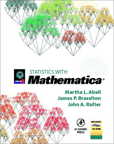 Statistics with Mathematica   1999 9780120415540 Front Cover