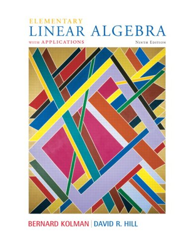 Elementary Linear Algebra with Applications  9th 2008 9780132296540 Front Cover