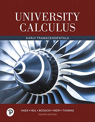 Cover art for University Calculus: Early Transcendentals, 4th Edition