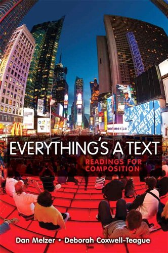 Everything's a Text Readings for Composition  2011 edition cover