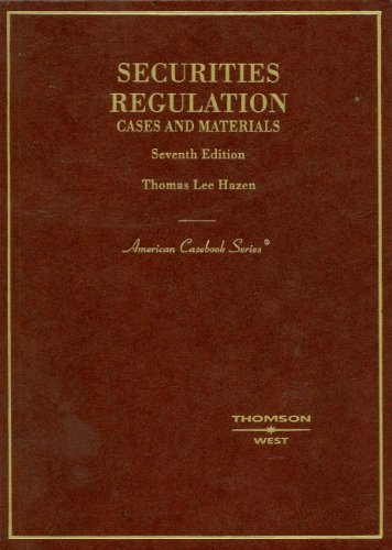 Securities Regulation Cases and Materials 7th 2006 (Revised) edition cover