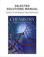 Selected Solutions Manual for Chemistry A Molecular Approach 2nd 2011 edition cover