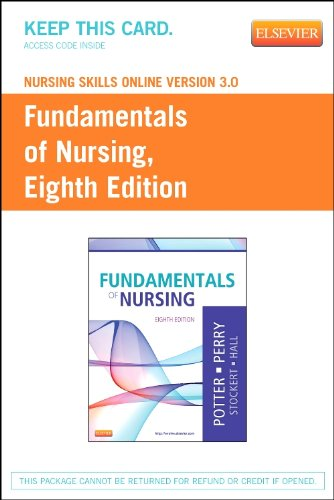 Nursing Skills Online Version 3. 0 for Fundamentals of Nursing (User Guide and Access Code)  8th edition cover