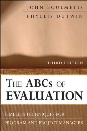 ABCs of Evaluation Timeless Techniques for Program and Project Managers 3rd 2011 edition cover