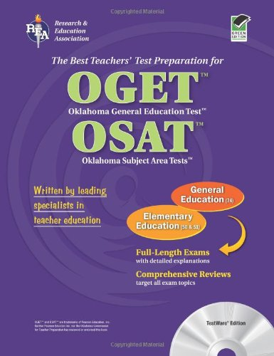 Best Teachers' Test Preparation for the OGET Oklahoma General Education Test OSAT Oklahoma Subject Area Tests  N/A 9780738601540 Front Cover