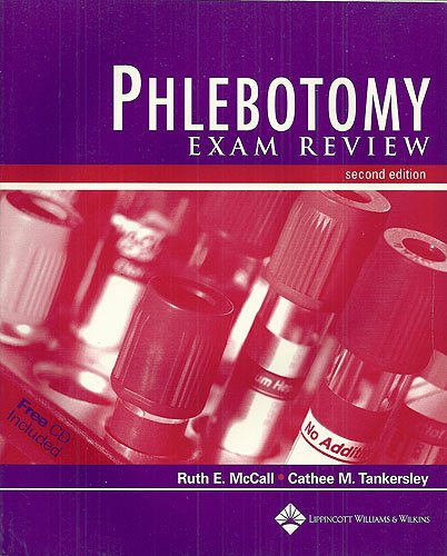 Phlebotomy Exam Review  2nd 2003 (Revised) edition cover