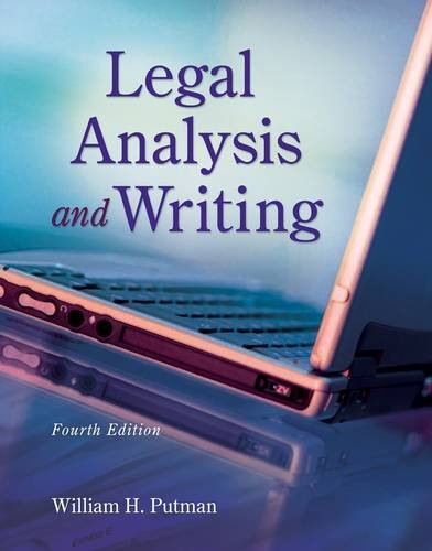 Legal Analysis and Writing  4th 2013 edition cover