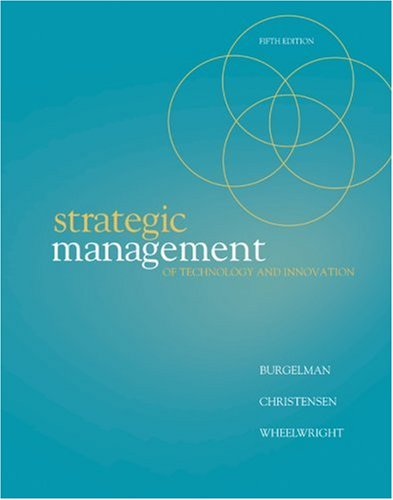 Strategic Management of Technology and Innovation  5th 2009 edition cover