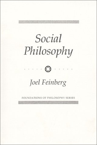 Social Philosophy  1st 1973 edition cover