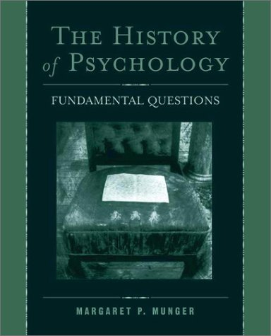 History of Psychology Fundamental Questions  2002 edition cover