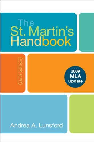 St. Martin's Handbook 2009  6th (Revised) edition cover