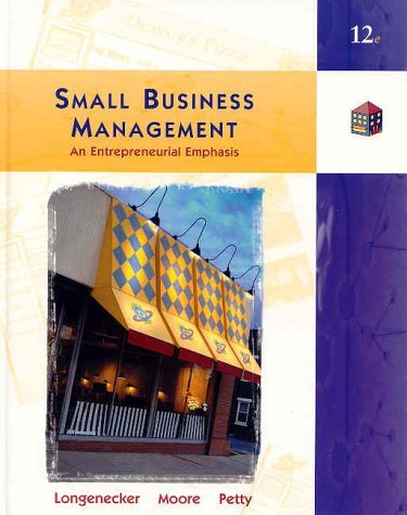 Small Business Management An Entrepreneurial Emphasis 12th 2003 edition cover