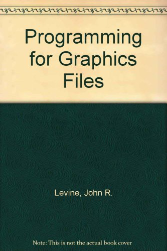 Programming for Graphics Files In C and C++  1993 9780471598541 Front Cover