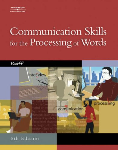 Communication Skills for the Processing of Words  5th 2005 9780538439541 Front Cover