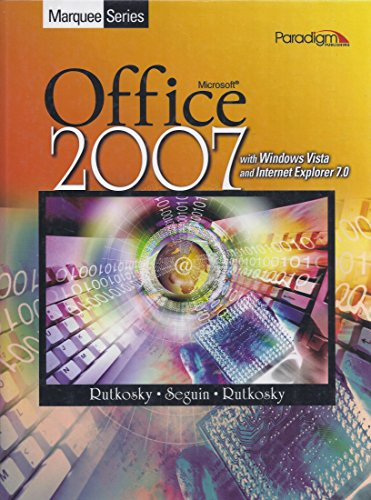Microsoft Office 2007 : Windows Vista  2008 9780763833541 Front Cover