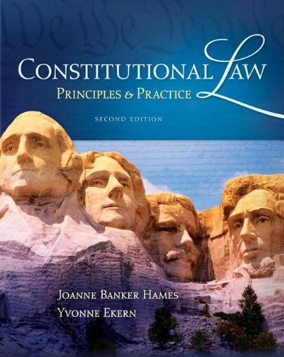 Constitutional Law Principles and Practice 2nd 2013 edition cover