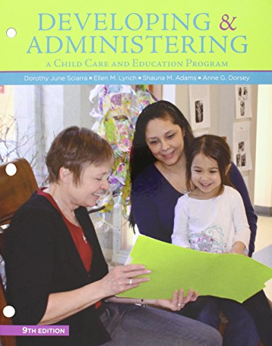 Developing and Administering a Child Care and Education Program + Mindtap Education, 1-term Access:   2015 edition cover