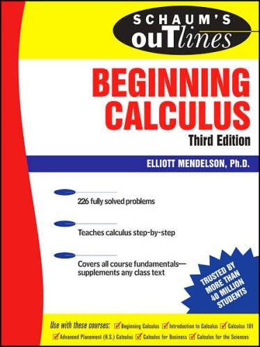 Schaum's Outline of Beginning Calculus  3rd 2008 edition cover